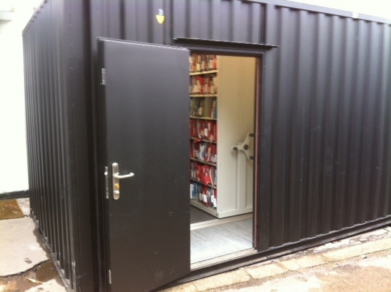 Mobile Shelving in Container or Portable Building